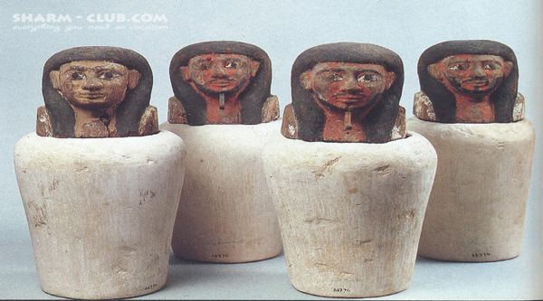 Canopic jars.