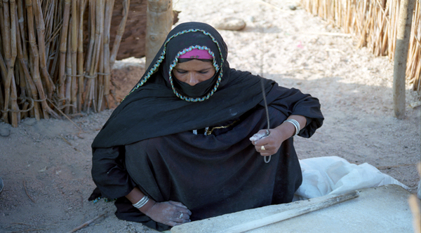 Bedouin woman's clothes and dresses