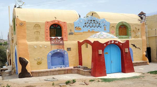 Красивый дом жителей Нубии