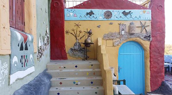 Decoration of Nubian house.