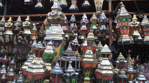 Traditional egyptian lanterns for Ramadan