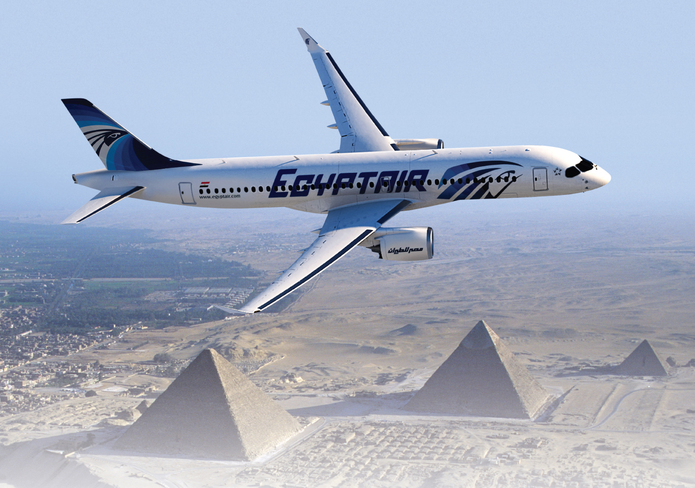 Travelling to Luxor by Egyptair