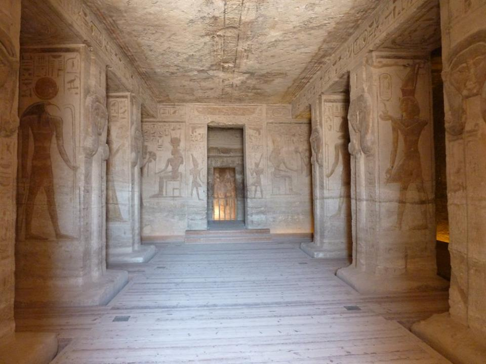 Inside Nefertari temple at Abu Simbel