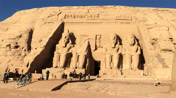The Great Abu Simbel temple.
