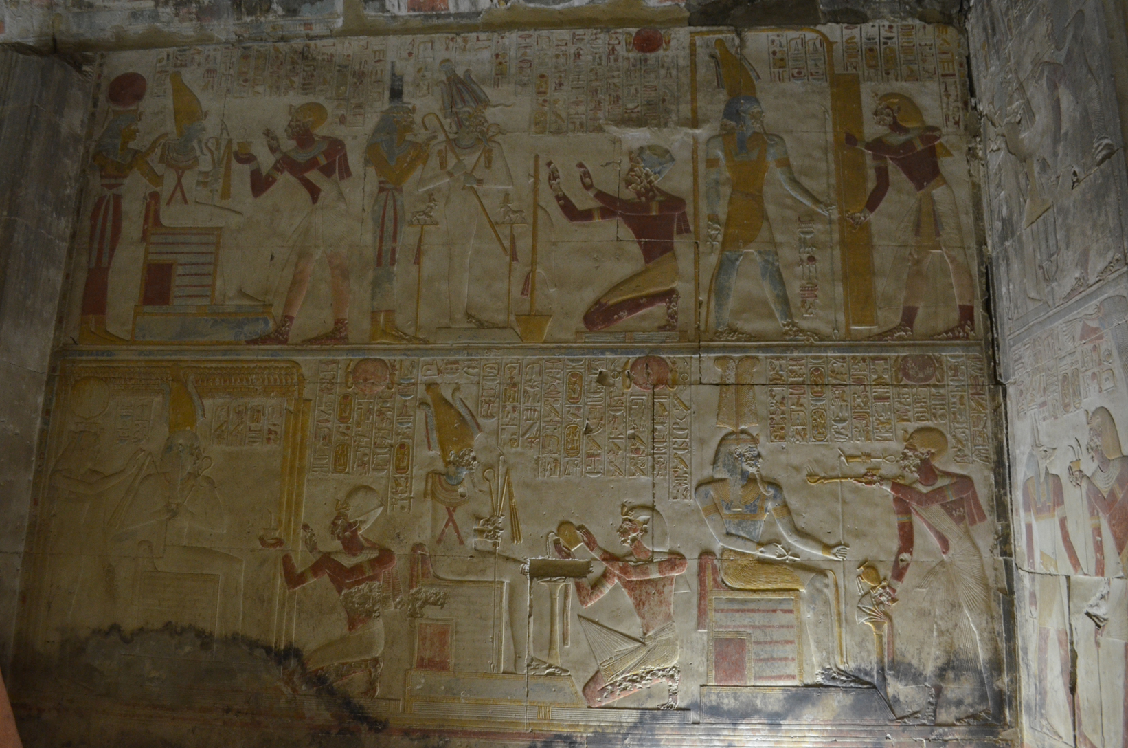 Abydos temple offerings relief