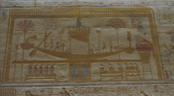 Wall painting in Abydos temple