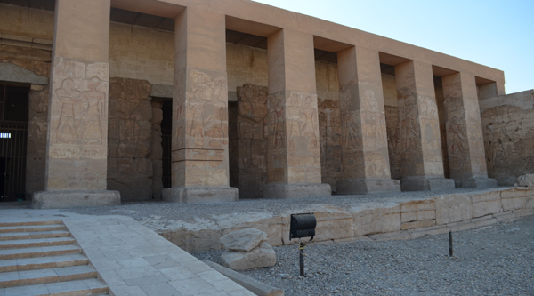 The main entrance to Seti I temple at Abydos