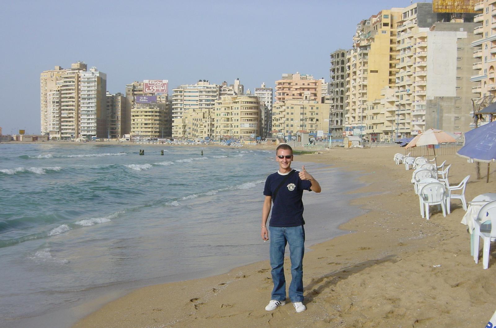 Sulla spiaggia della città di Alessandria