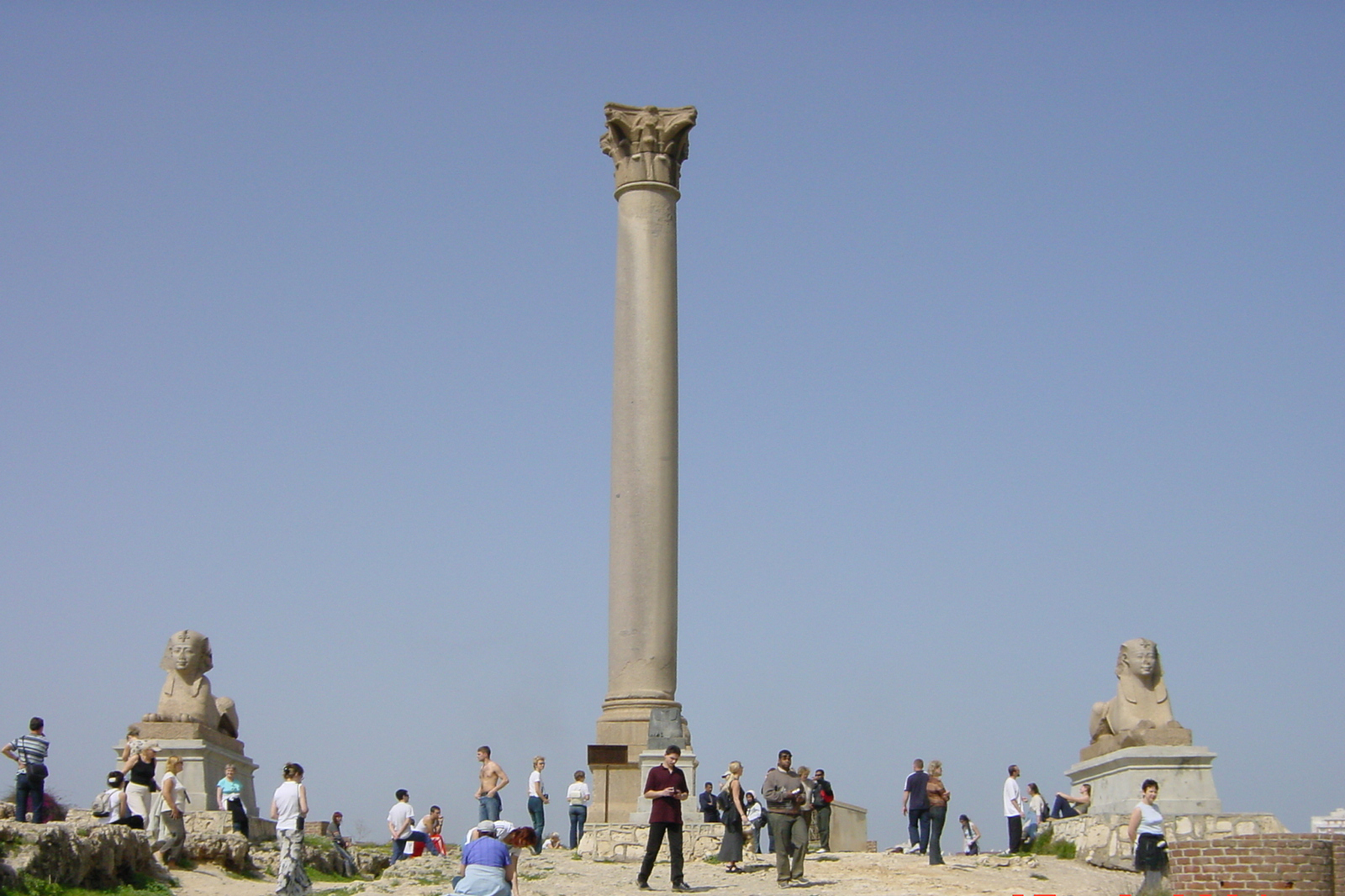Pompey pillar in Alexandria