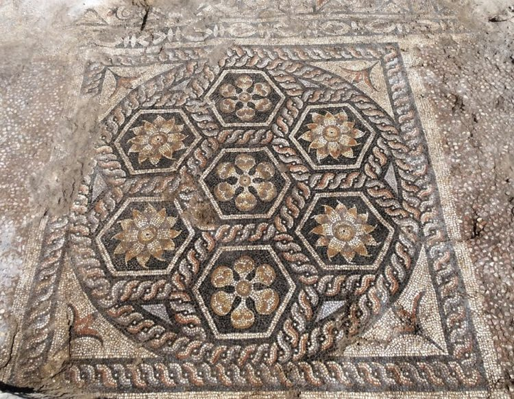 Newly discovered Roman Theater mosaic