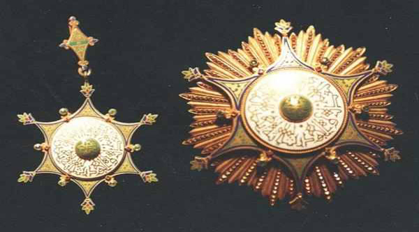 Royal medals from the Royal Jewelry museum.