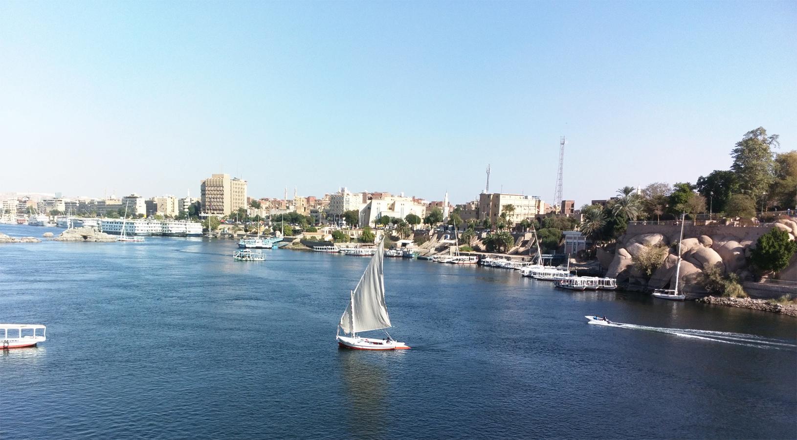 Nile felucca ride to Botanical garden in Aswan