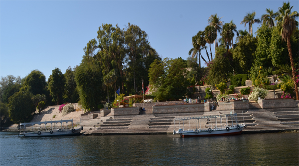 Botanical garden Nile view.
