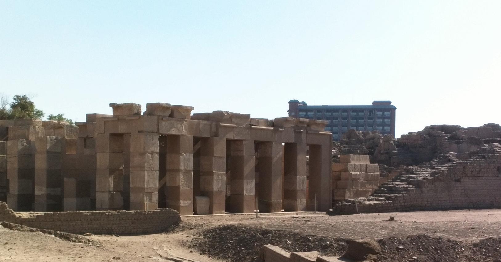 Uno de los templos en la isla de Elefantina, Aswan