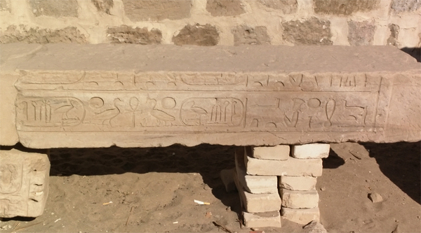 Slab with some hieroglyphs.