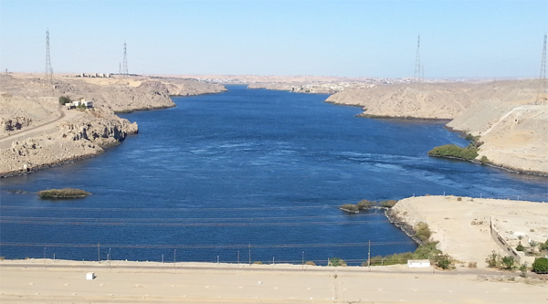 Nile behind the Dam.