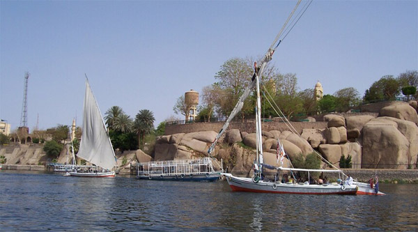 Nile feluca ride in Aswan