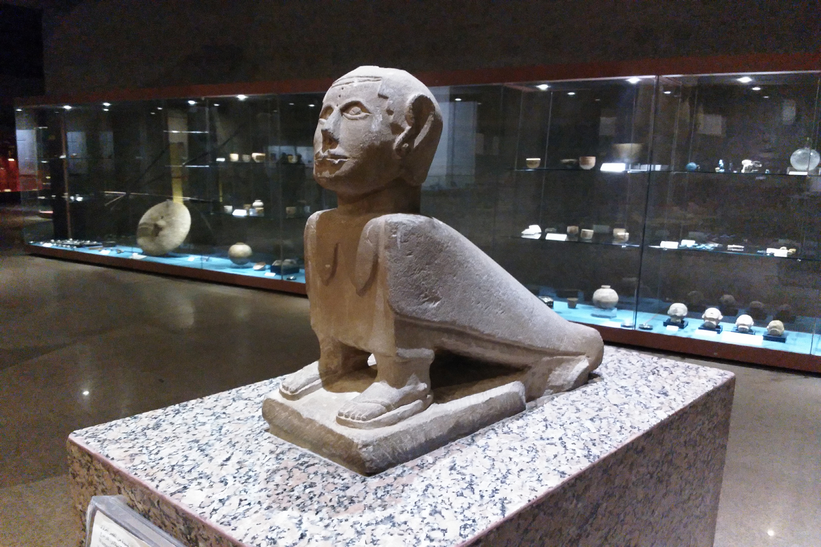 Statue of the soul BA at Aswan Nubia museum