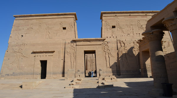 The main pylon in Isis temple, Philae island