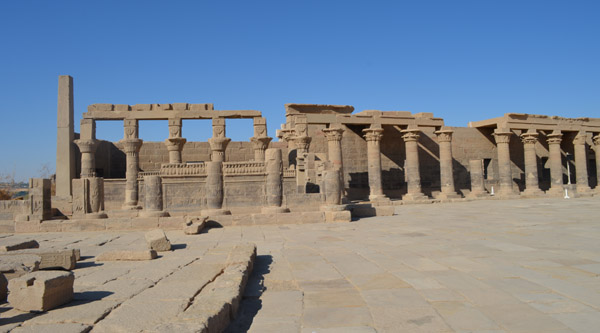 Isis temple colonnade.