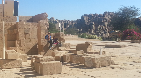 Some ruins on the island of Philae