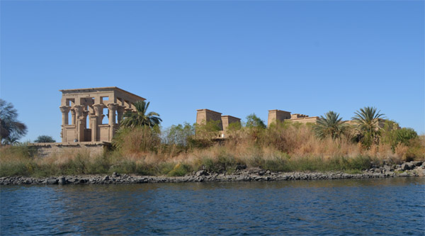 On the way to Philae Island, Aswan.