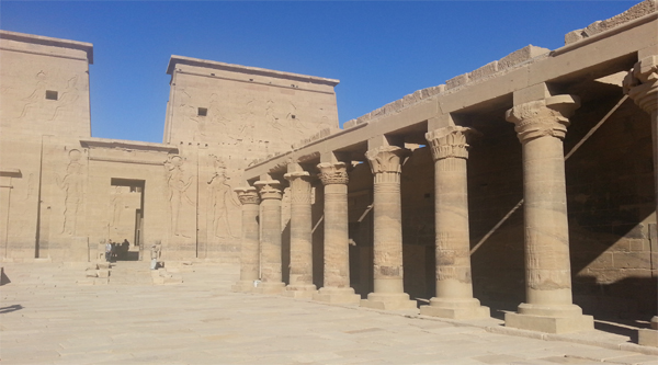 Temple of Isis on Philae island, Aswan
