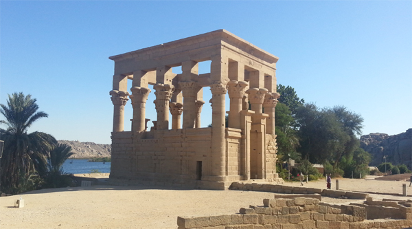 Trojan kiosk on Philae island, Aswan