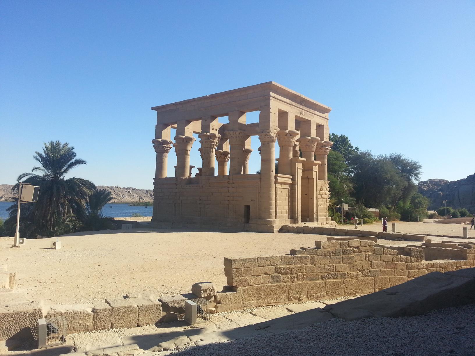 Trojan kiosk on Philae island