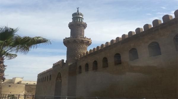 Al-Nasir Mohammed mosque minaret and outer wall