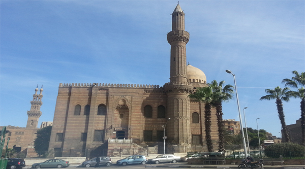 Mahmudeya mosque at the bottom of the Citadel.