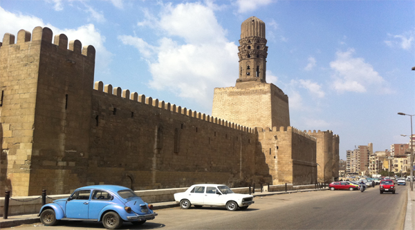 Cairo city wall between Bab al-Naser and Bab al-Futuh.
