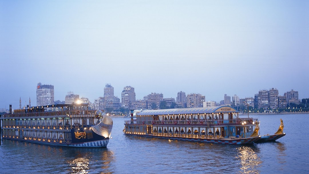 Boats cruising the Nile in Cairo