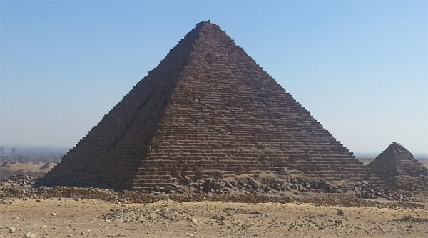 Pyramid of Mekerin, the smallest one