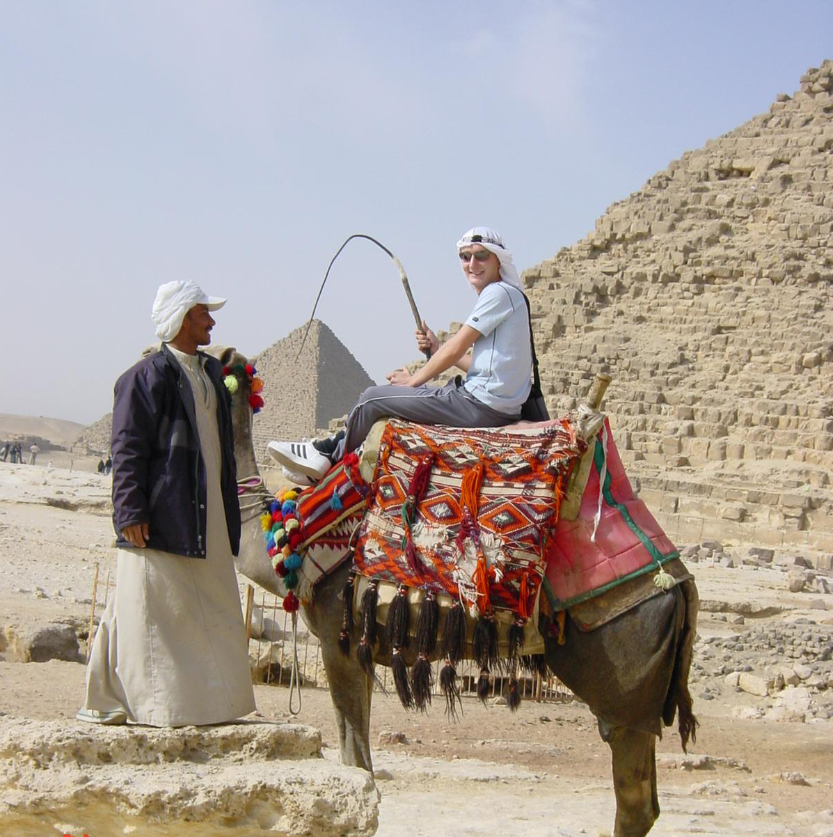 Camel riding at the Egyptian Pyramids