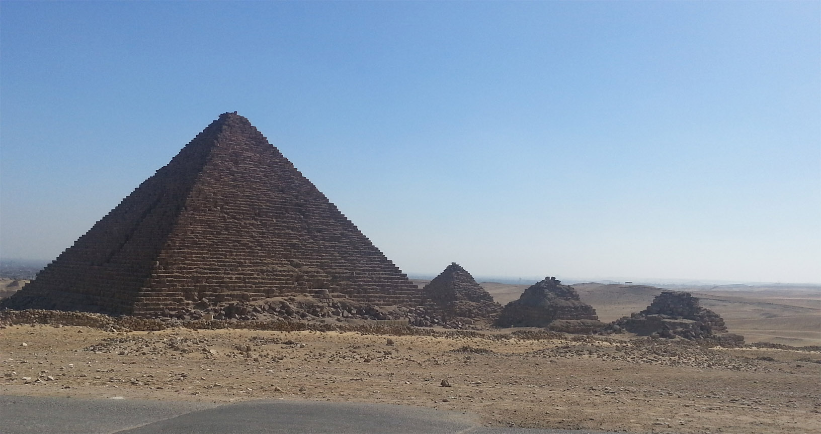 Queens pyramids in Giza