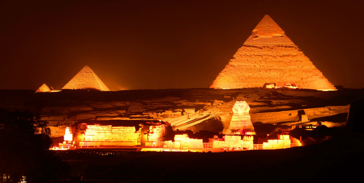 Evening show at Giza Pyramids