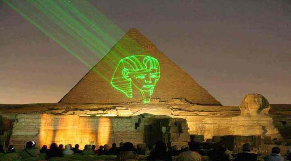 Sound & Light show at the pyramids.