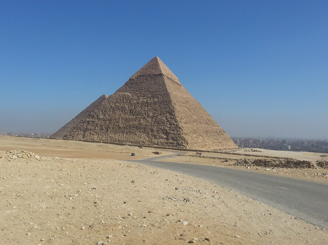 The second largest pyramid in Giza