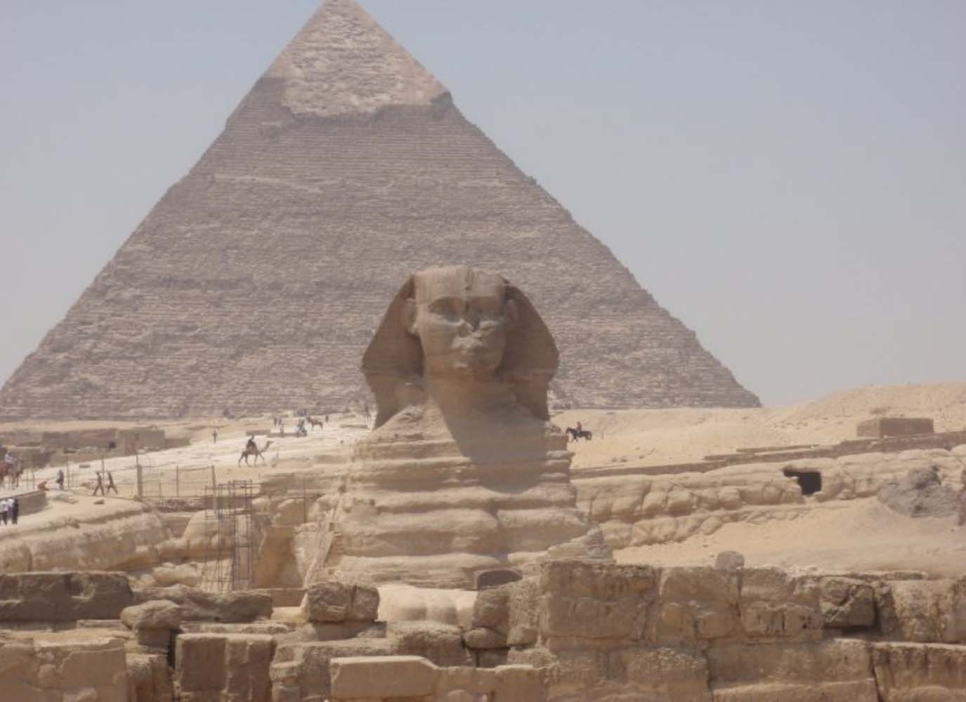 The Great Sphinx at the pyramids