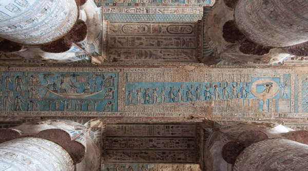 The ceiling of the temple at Dendera