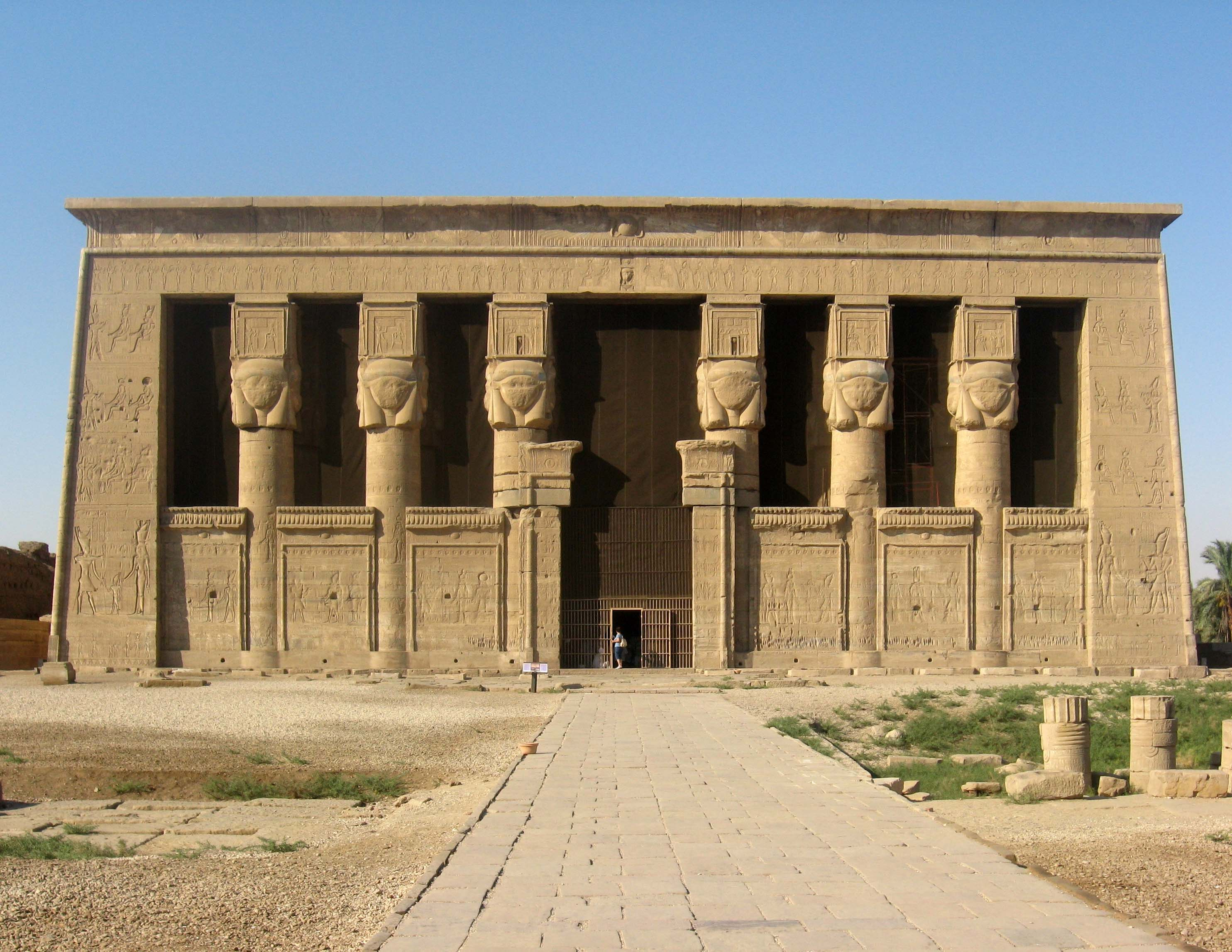 Temple of Hathor facade