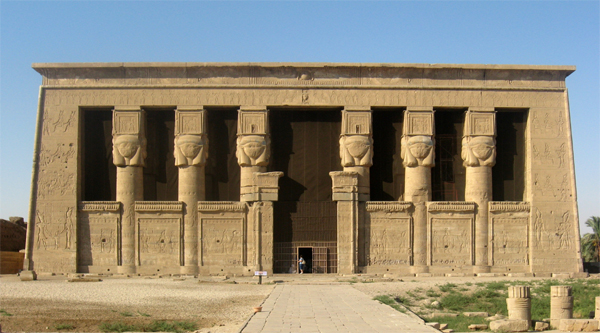 Overview of Hathor temple in Dendera