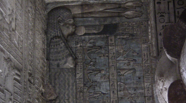 The goddess Nut on the walls of Hathor temple