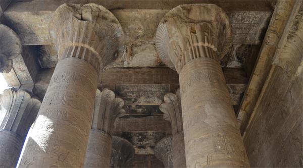 Colums at Edfu temple