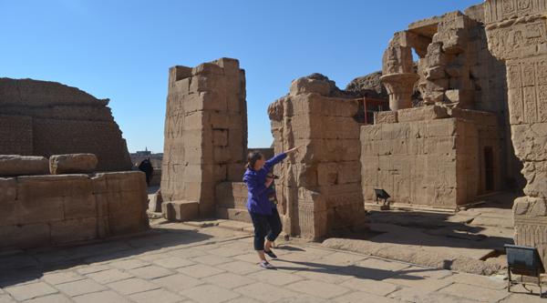 Visit to Edfu temple while cruising the Nile