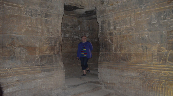 Inside Horus temple at Edfu.