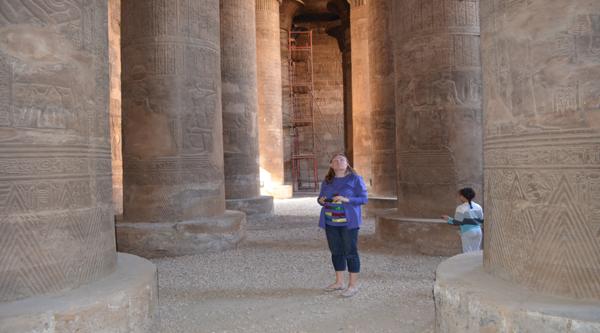 Inside a beautiful Esna temple