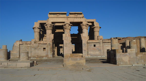 Kom Ombo temple overview.