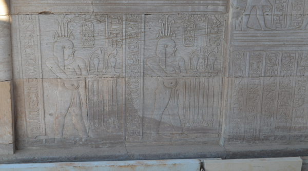 Depiction of offerings at temple of Kom Ombo.